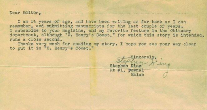 stephen king mektup