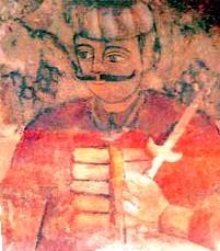 Drakula'nın babası Vlad Drakul'a ait 15.yy'da yapılmış duvar resmi