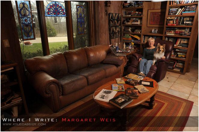 margaret weis ünlu yazar çalışma odası