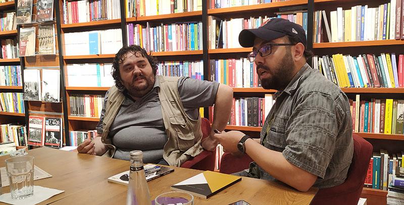 Mehmet Berk Yaltırık ve Burak Albayrak (Kitap lansmanı için yapılan söyleşi gününden)