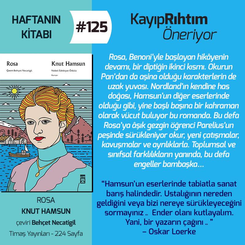Haftanın Kitabı #125 – Rosa