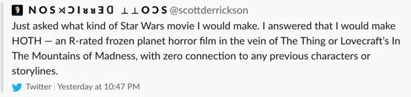 scott derrickson twitter cevap