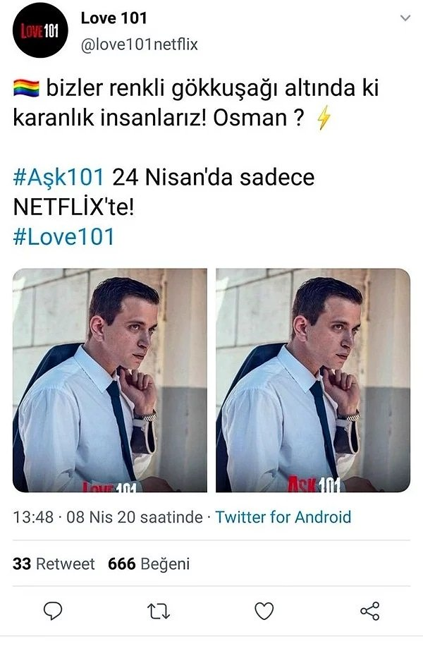 Aşk 101 Netflix Eşcinsel Karakter