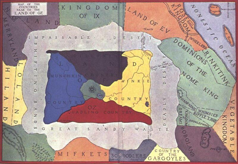 Oz Diyarı Haritası