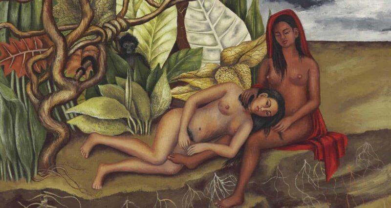 Dos desnudos en el bosque frida kahlo