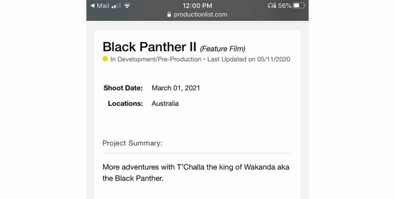 black panther 2 çekim tarihi