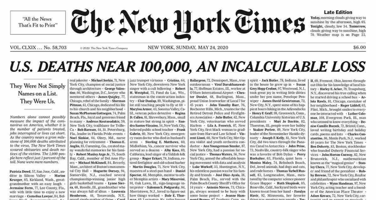 The New York Times Covid-19 Koronavirüs