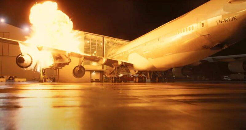 Tenet Uçak Patlama Sahnesi