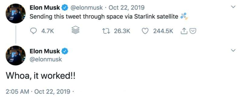 Starlink Elon Musk Tweet