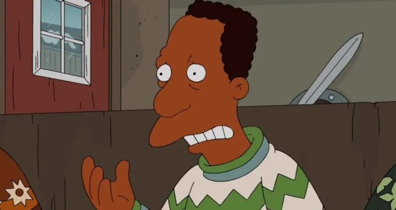 the simpsons siyah karakter