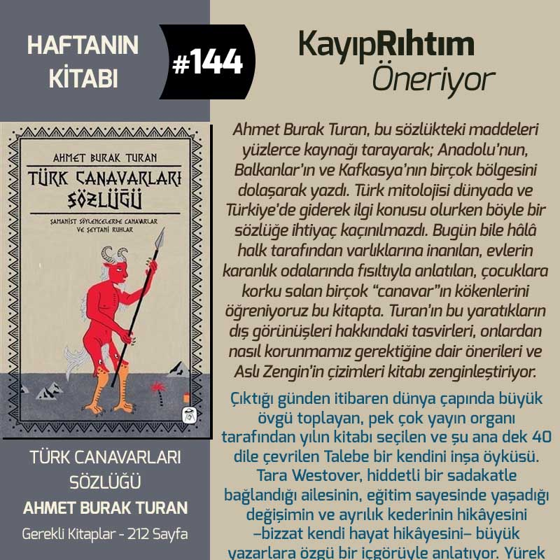 Türk Canavarları Sözlüğü - Ahmet Burak Turan