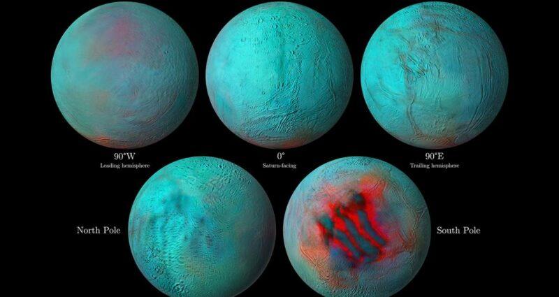 Saturn Uydusu Enceladus NASA
