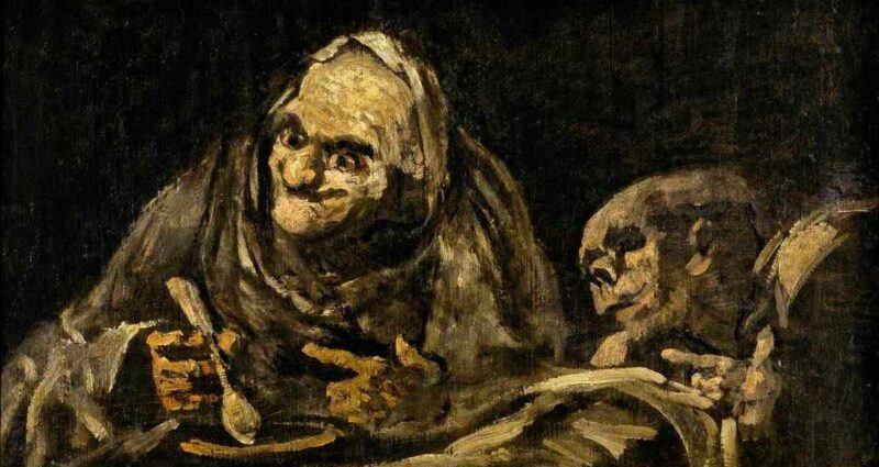 Francisco Goya Two Old Ones Eating Soup
