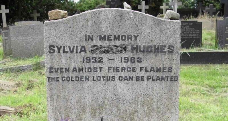 sylvia plath mezar taşı