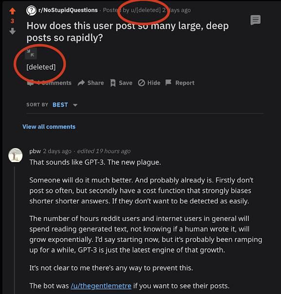 yapay zeka gpt3 reddit