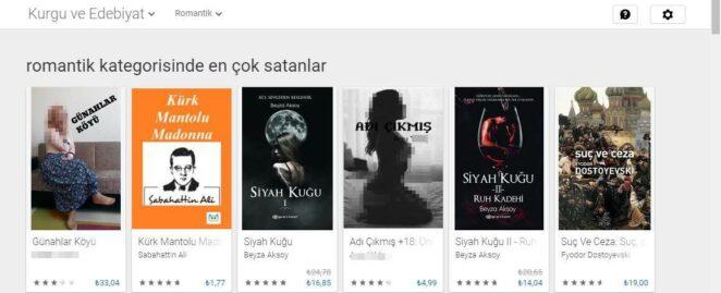 google play store 18+ kitaplari romantik