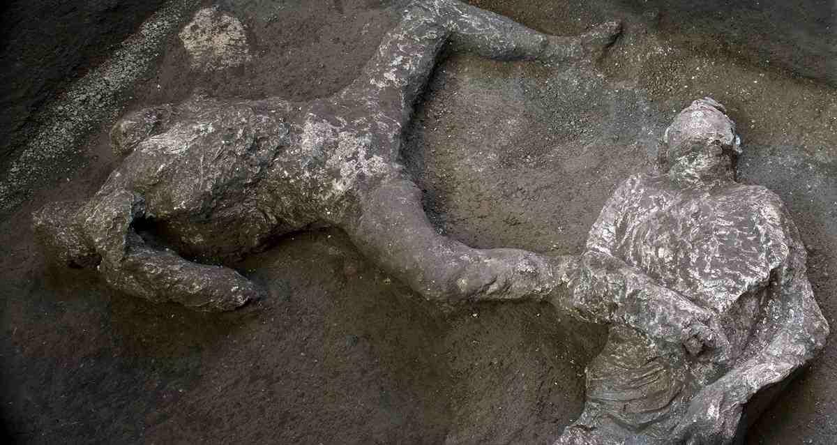 Pompeii Felaketi İnsan Cesetleri