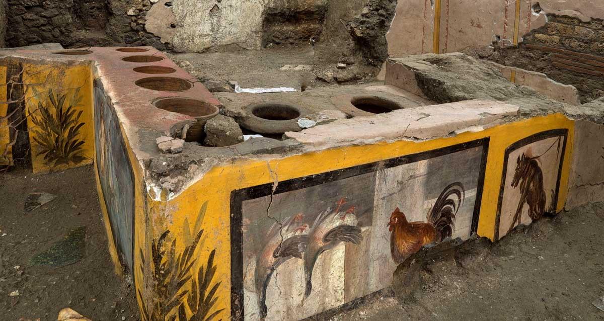 Antik Pompeii Kazıları Sokak Yemeği Kültürü