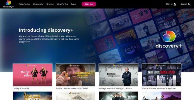 discovery+ ekran