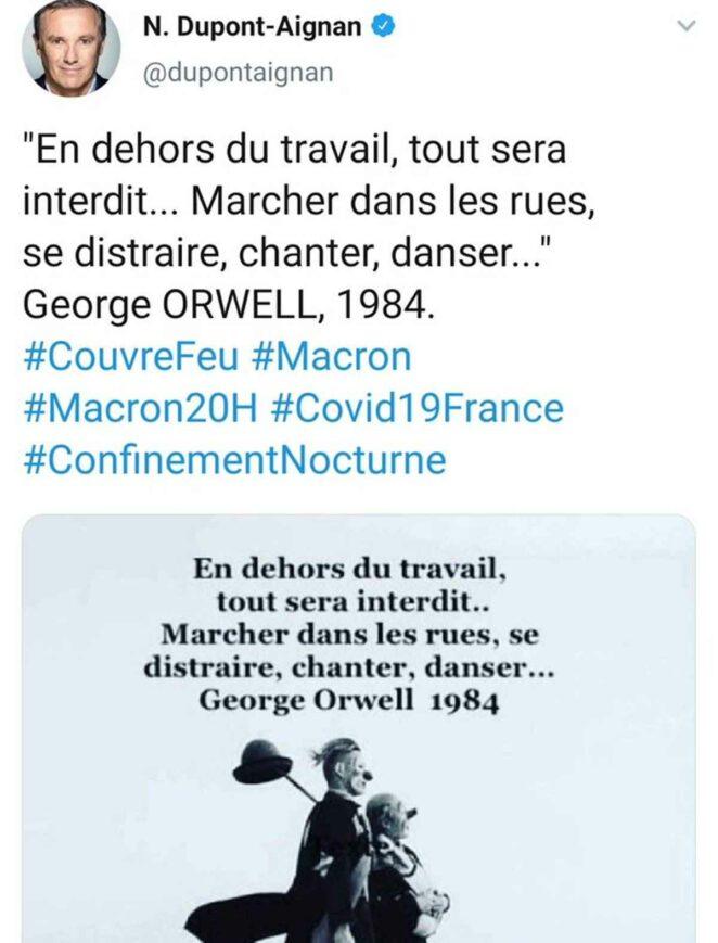dupont george orwell tweet