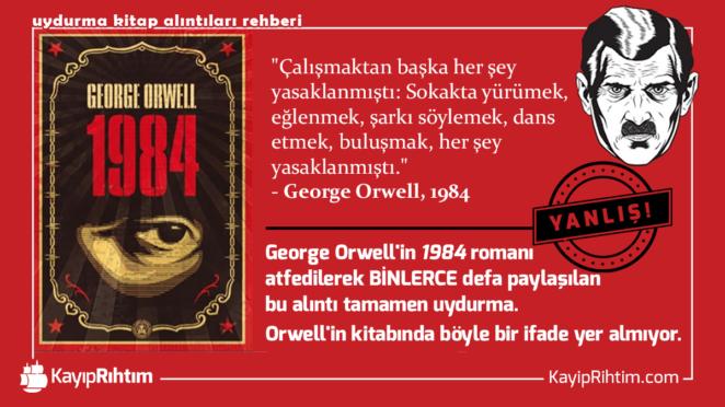 george orwell 1984 alıntı