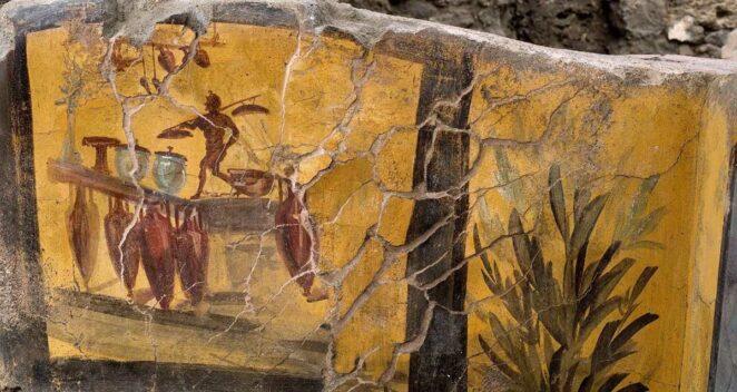 antik pompeii kazı