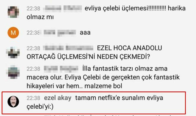 Ezel Akay Evliya Çelebi Netflix