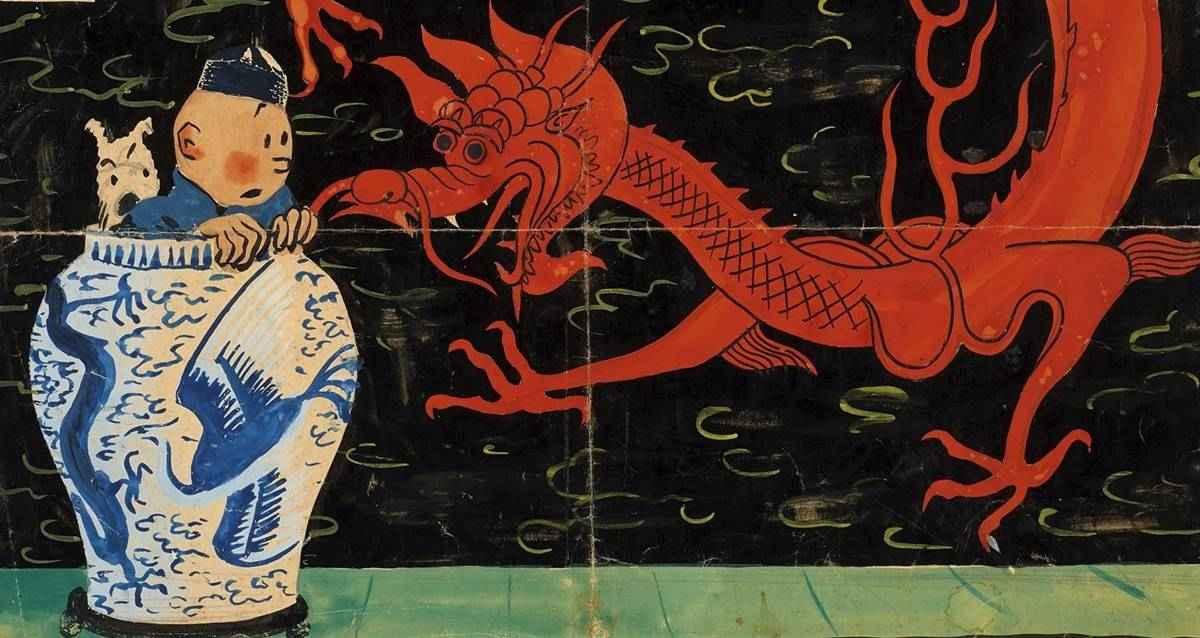 Hergé tenten mavi lotus
