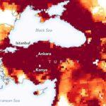 NASA Türkiye Kuraklık Haritası