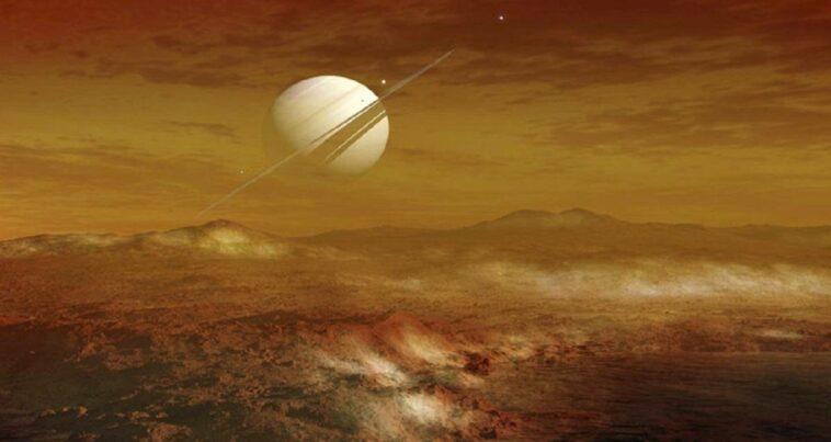 Satürn Titan Uydu Deniz Derinliği