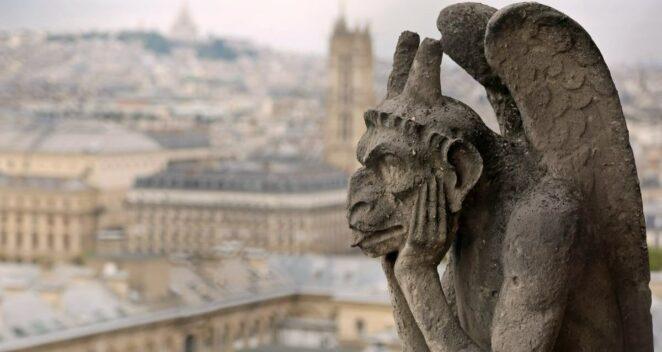 Gargoyle heykeller korku gotik