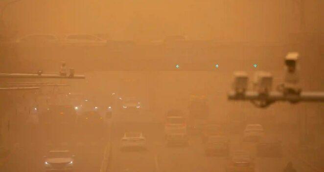 çin kum fırtınaları hava kirliliği