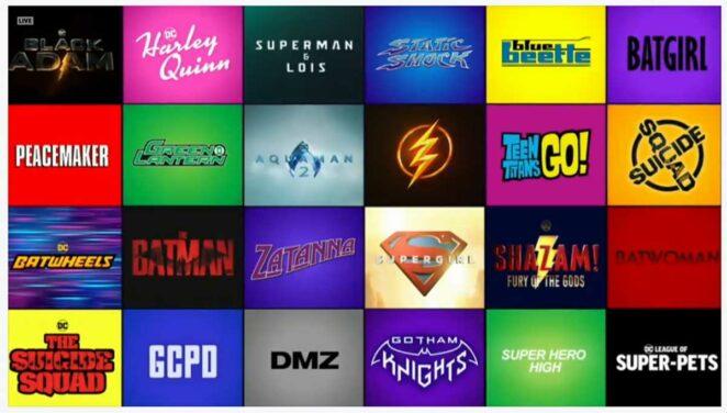 Tüm DC Filmleri ve Dizileri