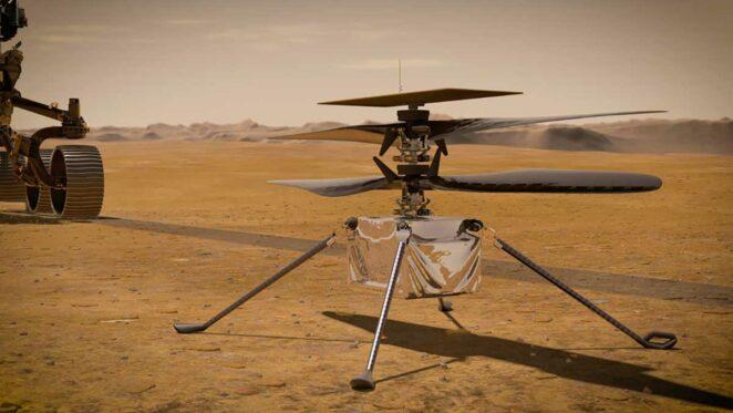 NASA Mars Helikopteri Ingenuity