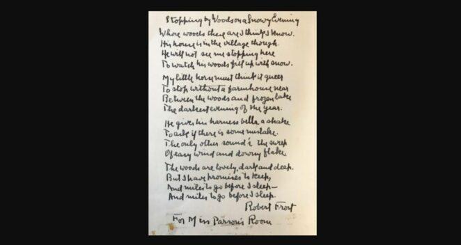 Robert Frost şiir