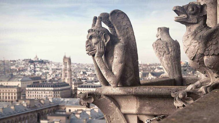 Notre Dame Gargoyleleri Evlat edinme katedral