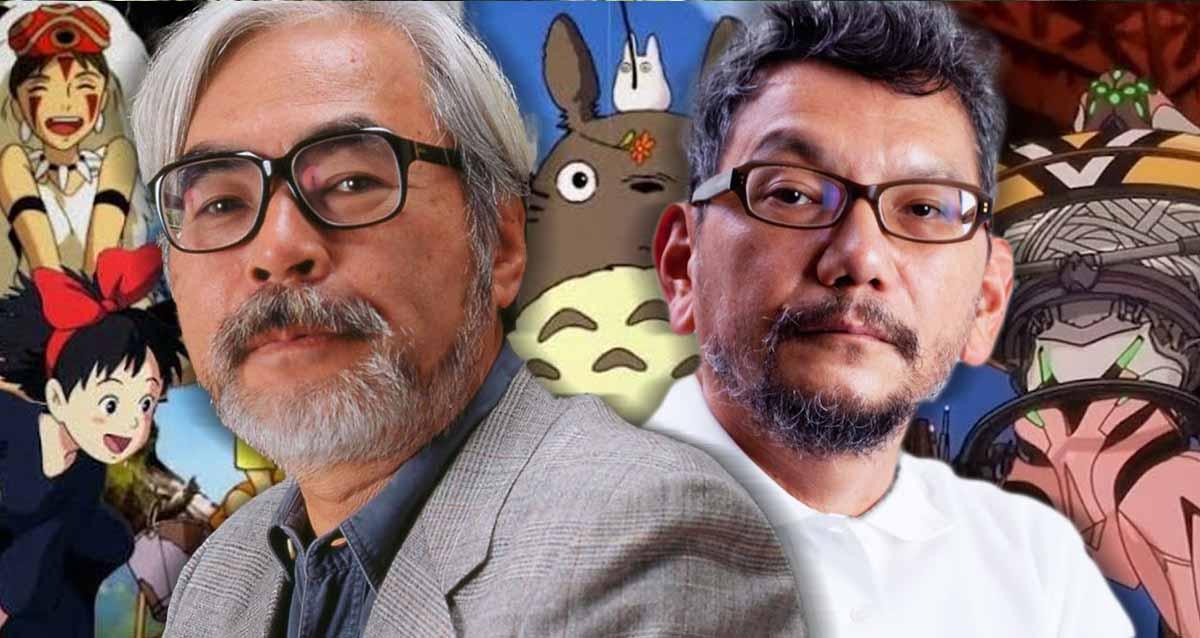 Hayao Miyazaki Hideaki Anno Studio Ghibli Evangelion