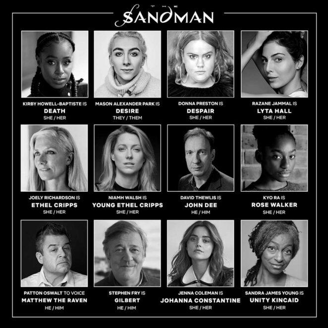 sandman dizisi yeni oyuncu kadrosu