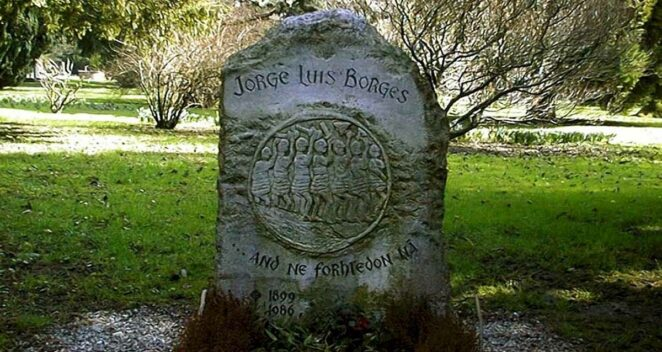 Jorge Luis Borges mezar taşı