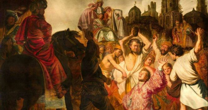 Rembrandt The Stoning of Saint Stephen