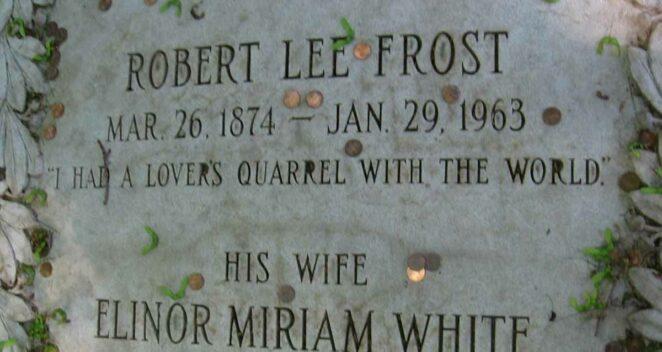 Robert Frost mezar taşı