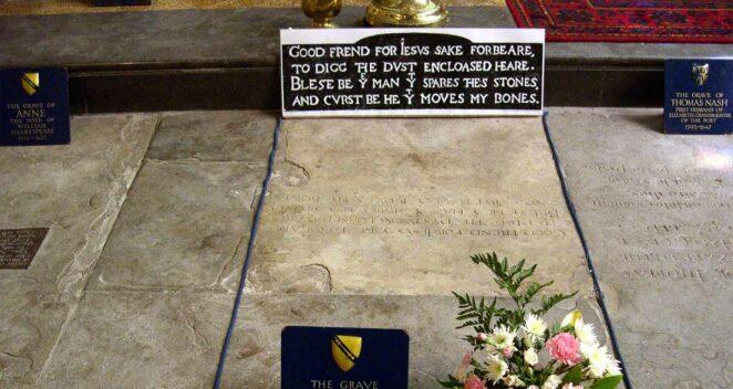 William Shakespeare mezar taşı