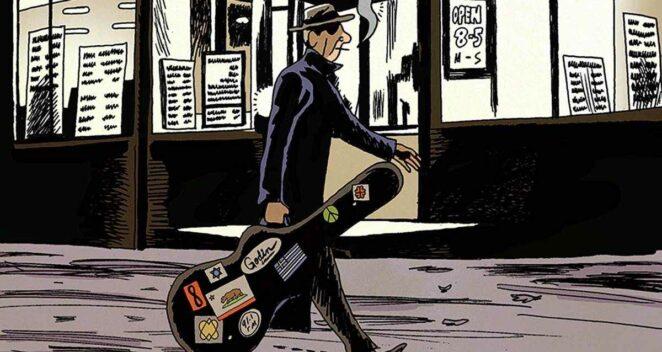 Leonard Cohen: Hayatı Çizgi Roman on a wire