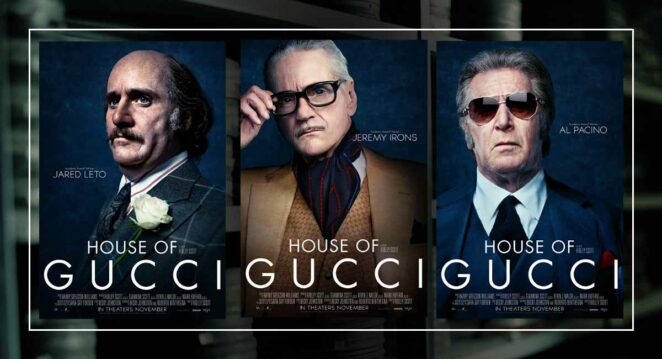 house of gucci poster karakter posteri