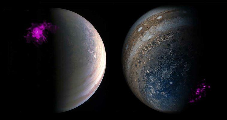 Jüpiter kutup ışıkları