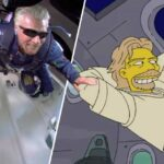 The Simpsons, Richard Branson uzay gelecek tahmin