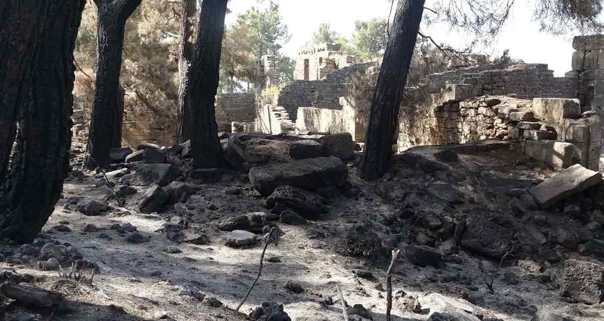 Lyrbe Antik Kenti Orman Yangını
