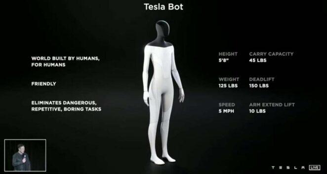 tesla bot elon musk yeni insansı robot