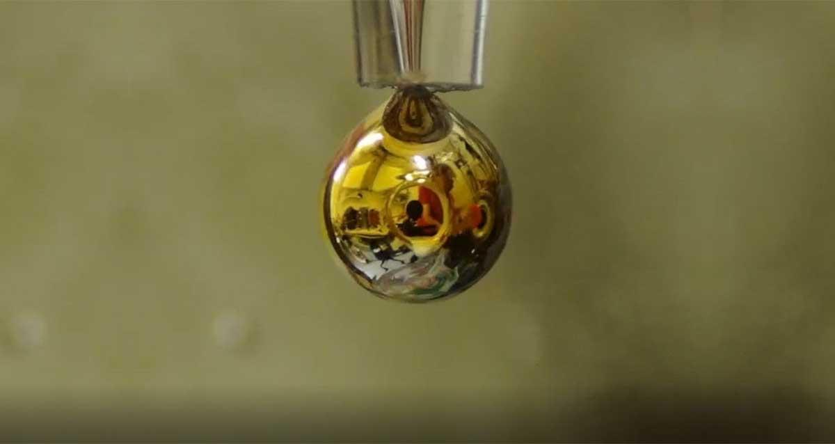 su altın sıvı metal