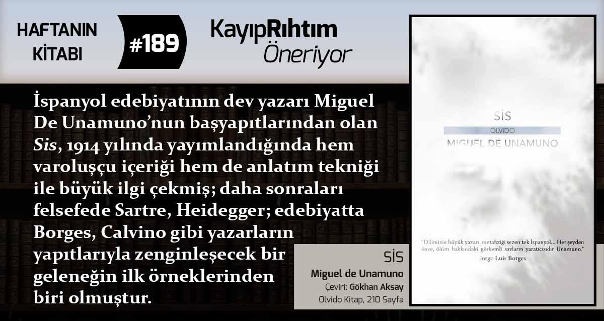 Sis - Miguel de Unamuno | Haftanın Kitabı #189